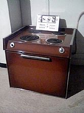 1956 GE Push Button (Wall Mount) Stove/Oven Combo with Hood Vent