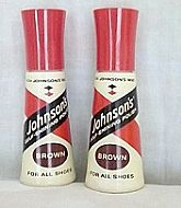 Two vintage 1960's  JOHNSON'S SELF-SHINING POLISH Bottles
