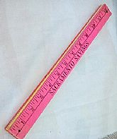 "VINTAGE 1960s FOLDING ""ADVERTISING"" YARDSTICK"