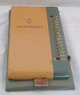 Vintage Metal Slide Selector Phone Index