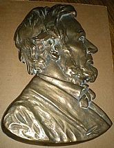 1970's Bronze, Bust, of President Lincoln