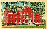 'Tobey Hospital, WAREHAM, Mass.' - Unused NOS Vintage Linen Postcard
