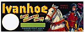 "Vintage Fruit CRATE LABEL - 'Ivanhoe' Brand ~ ""Fancy California Fruits"""