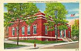 'United States POST OFFICE, MIDDLEBORO, Mass' - Unused NOS Vintage Linen Postcard