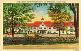 'TABOR ACADEMY Administration Building and Dormitories, MARION, Mass.' - Unused NOS Vintage Linen Postcard