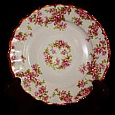 Elite Works of France decorative floral porcelain bread dish.