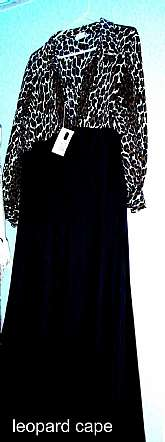VTG Womens Fredericks Glam Robe - Cape in Leopard Print & Black, Full Length, Like New ConditionThis can also be worn as a MOD dress/GownSize MEDIUMPlease see my other items as I sell vintage lingerie, girdles, garters, corsets, nighties a