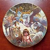 "original 1982 ""The Peaceable Kingdom"" ceramic plate.  It is plate #6626 out of limited edition 12500.   Premier issue and Cornerstone Selection in the Nature's Harmony Series"