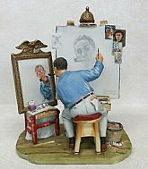Super rare EXCELLENT condition vintage Norman Rockwell figurine