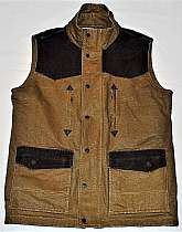 This is a VERY lightly worn Smith & Wesson Range Vest. Can be used for multible activities outdoors. Hunting, shooting or range wear.Photo 2 shows the width to be 18 inches at arm sockets (seam to seam), height from waist to upper most shoulder (next