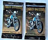 These collectible Harley Davidson premium cards have never been opened so can't say what cards are in each pack. There are 2 packs for a total of 20 premium cards. These are 1992 series. You get two packs at this price.