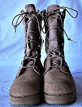 These are boots that have NOT BEEN WORN, a fellow Veteran bought these for his wife but she wouldn't wear them. They make a terrific camping/hiking boot. The size is a womens 6R.