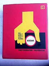 Very cool 1968 Kodak photographic notebook manual binder. Featuring news formulas movies darkroom color materials technique. Full of vintage 1960s advertisements for Kodak film. It's the perfect gift for the photographer in your life!