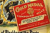 This is a New Old Stock box of Gold Medal Compound Pills. Never opened and dated Dec. 1, 1942.