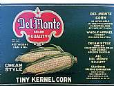 Very Scarce Vintage Del-Monte Kernel Corn Can Label - Measures 11