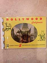 This is a really cute vintage Hollywood mini mailable booklet from the 1950's! It is in excellent condition. Features pictures of Santa Monica Beach, Hollywood Bowl, National Broadcasting Station and much more! It features 10 photos in the booklet. It mea