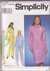 Simplicity 9068, Women Size 14 to 20, Full Figure Ladies.Lined Little jacket A,B,C,D has princess seams, long sleeves, jewel neckline.A,C,and D have front hook and eye closures, B has front zipper.A and B in long length have front scalloped hem.C,and