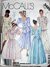 McCalls 3485 Wedding, Bridesmaids, Proms, Grads Special Occasions, Dresses Size 12,Vintage 1987 Pattern has been cut all pieces included and no damage.Envelope does have some shelf wear but intact.
