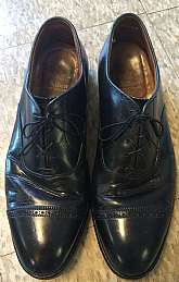 "Black with black lacesSize 10BLength from sole heel to toe 12""Made in U.S.Free shipping in the U.S.Everywhere else $24"