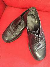 "40's classic leather oxfordsSize 8Heel to toe measures 11 1/2""New sole and heel have been added to shoeGreat unique pairFree U.S. shipping"