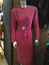 Pia Rucci 1960's Dress this is a palefuchsia color, sequin beaded fitted center,open upper back, longsleeve with buttonsat sleeve end Size 6 This is a stunningdress perfect for that special night out.Posted with eBay Mobile