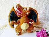 Pokemon Nintendo Charizard Dragon Monster Plush Toy Vintage New with Tags Genuine Official Glurak Dracaufeu Collectible Plush Toy Stuffed Doll