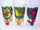 12 Twelve Days of Christmas Replacement Glasses Vintage New 4th day Colly Birds Water Glass ONLY Kitchen Holiday Drinkware 12oz Serving Barware