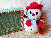 Christmas Snowman Plush Doll Toy Vintage New Stuffed Animal White Snowman Toy Holiday Home Decor
