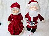Santa & Mrs Claus Art Dolls Vintage OOAK Collectible Handmade Christmas Holiday Home Decor 13 inch Dolls Set Pair Christmas Ornament Decoration Display. These are a couple of dolls from my Grandmother's estate collection that she made years ago. She w