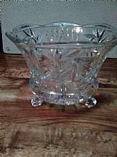 Beautiful Etched Glass Serving Dish