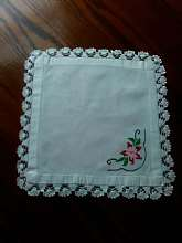 beautiful embroidered and crocheted table linen