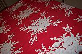 Calaprint' Vintage Tablecloth Red with flowers