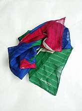 I have for sale this Jacqar of London medium sized square 1980's vintage scarf with red tulips and green white and blue backgroundThe scarf is in very good vintage Worldwide postageFor more information or pictures please ask