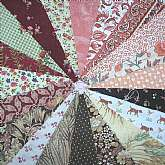 "This stunning set of 40 vintage and newer 4"" cotton quilt squares is made up on a wonderful selection of coordinated fabric that wil set off any quilt nicely. There are some very tiny prints among these beauties including vintage feedsack fabric from"