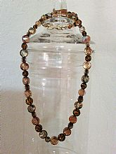 Kramer signed glass beaded necklace