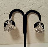 Vintage Clear Crystal Floral Earrings