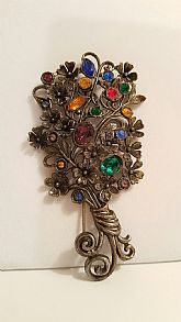 Floral Bouquet Antique Pin