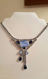 Vintage Blue Estate Style Necklace