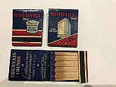 Early 1940's advertising matchbooks from the Historic Rosevelt Hotel built in 1923