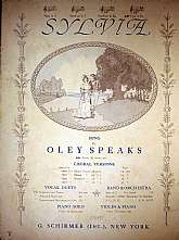 This piece of vintage sheet music was published in 1914 by the G. Schirmer, Incorporated.  It was arranged for the piano by Oley Speaks, and the lyrics written by Clinton Scollard.  This music will be a great acquisition for anyone that enjoys playing, si