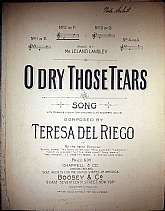 This piece of sheet music was published in 1901 by Chappell & Company of London, England.  It was arranged for the piano, and the lyrics written by Teresa Del Riego.  This music will be a great acquisition for anyone that enjoys playing, singing to, o
