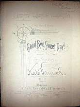 This piece of sheet music was published in 1891 by Louis H. Ross & Company.  It was arranged for the piano Kate Vannah, and the lyrics written by Celia Thaxter.  This music will be a great acquisition for anyone that enjoys playing, singing to, or col