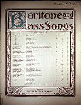 This piece of sheet music was published in 1888 by the Oliver Ditson Company.  It was arranged for the piano by Charles A. E. Harriss, and the lyrics written by Charles Mackay.  This music will be a great acquisition for anyone that enjoys playing, singin