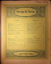 This piece of secular sheet music was published in 1893 by the Oliver Ditson Company.  It was arranged for the piano by George Balch Nevin, and the lyrics are a poem written by Henry Wadsworth Longfellow.  This music will be a great acquisition for anyone