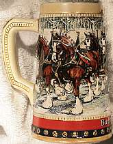 This collectable holiday Budweiser beer stein,