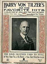 This vintage book of sheet music was published in 1922 by the Harry Von Tilzer Music Publishing Company, of New York City. All of the selections were arranged by Harry Von Tilzer, and the lyrics written by several different lyricists.  This book of music