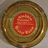This vintage ashtray was acquired in 1966 from Aladdin Catering, a part of the Dobb's Bronze Room business in La Mesa, CA.  It will appeal to any collector of ashtrays, as well as anyone that lives or has lived in La Mesa that collects all things La Mesa!