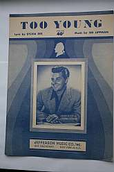 "1951 Sheet music, ""Too Young"""
