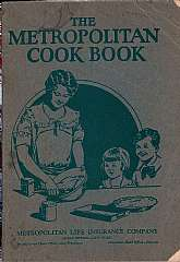 This cookbook, published circa 1922 was a promotional and marketing tool for the Metropolitan Life Insurance Company.  It will appeal to anyone that collects cookbooks, as well as to any current or former employee of the Metropolitan Life Insurance Compan