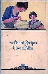 This cookbook, published in 1930 by the Procter and Gamble Company, was a marketing and promotional tool for Crisco, a vegetable fat used in many homes for frying and baking.  I grew up in a Crisco home, and I remember it looking like plain old lard, but